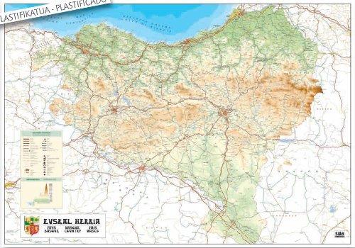 Mapa mural de Euskal Herria Cartografía
