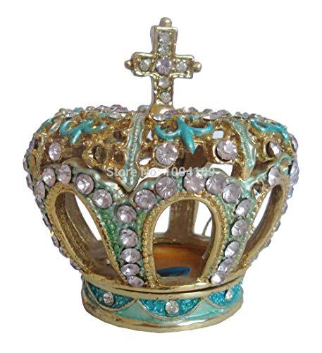 DDXW Crown Jewels - Joyas de cristal pequeñas para manualidades de metal, decoración de escritorio