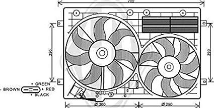 Diederichs 8229503doble eléctrico ventilador