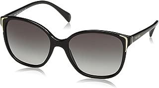 Prada PR01OS Sunglasses-Gray Gradient lens Black (1AB3M1)-55mm