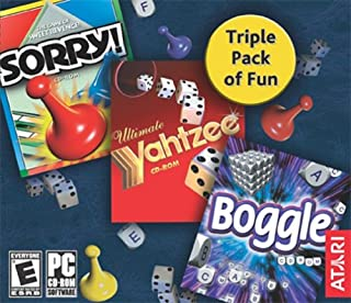 Sorry! /Boggle / Yahtzee (Jewel Case)