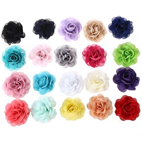 Frcolor 20 Stück Rosen Blumen Haarclip Haarspange für Frauen Mädchen