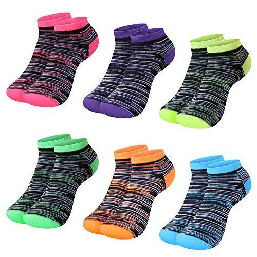 L&K-II 12 Paar Damen Sneaker-Socken Füßlinge 39/42, Farbenmix-1