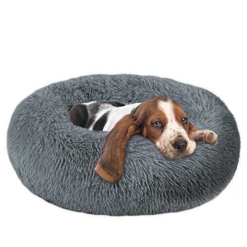 OQQ Dog Beds Calming Donut Cuddler, Puppy Dog Beds Large Dogs, Indoor Dog Calming Beds Large