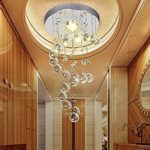 boaber Crystal Ceiling Modern Minimalist Circular Balcony Aisle Entrance Hallway Ceiling W200 * H400 (mm)