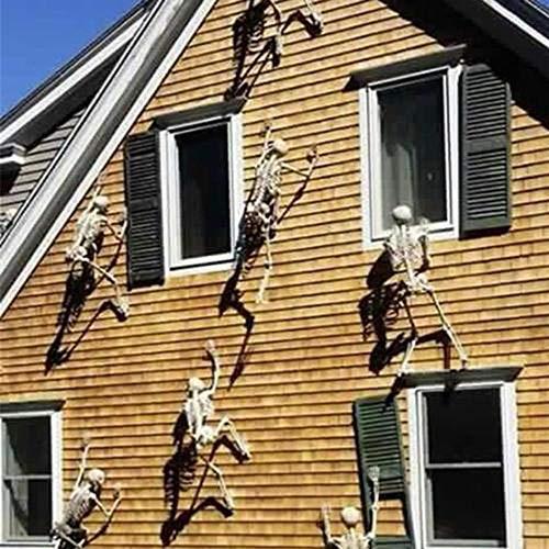 ZHANGJI Halloween deko Garten-Halloween-Stützen-leuchtende menschliches Skelett-hängende Dekorations-Partei im Freien