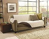 Exclusiva funda de sofá de 3 plazas reversible,ligera y con acolchado de nueva generación, tela...