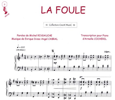 Partition : La Foule - Piano et Paroles - Feuillet