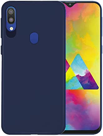 Valueactive Back Cover Case for Samsung Galaxy M20 Back Case Cover Rubberised Matte Soft Silicone TPU Flexible Back Case Cover for Samsung Galaxy M20 (M20, Blue)