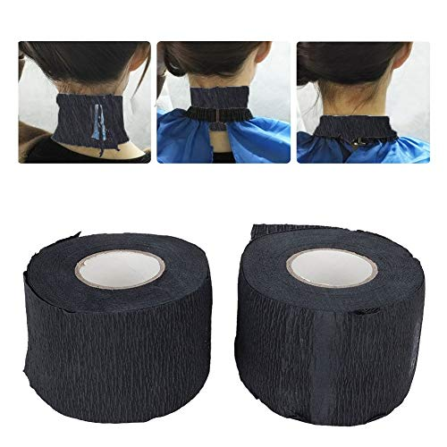 Papel para el cuello - Tiras de cuello desechables Papel elástico para peluquería profesional en el salón de peluquería
