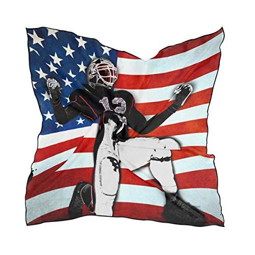Fantasio Kerchief American_Football Leichter Fashion Schal & Kopftuch für Mädchen, quadratische Form