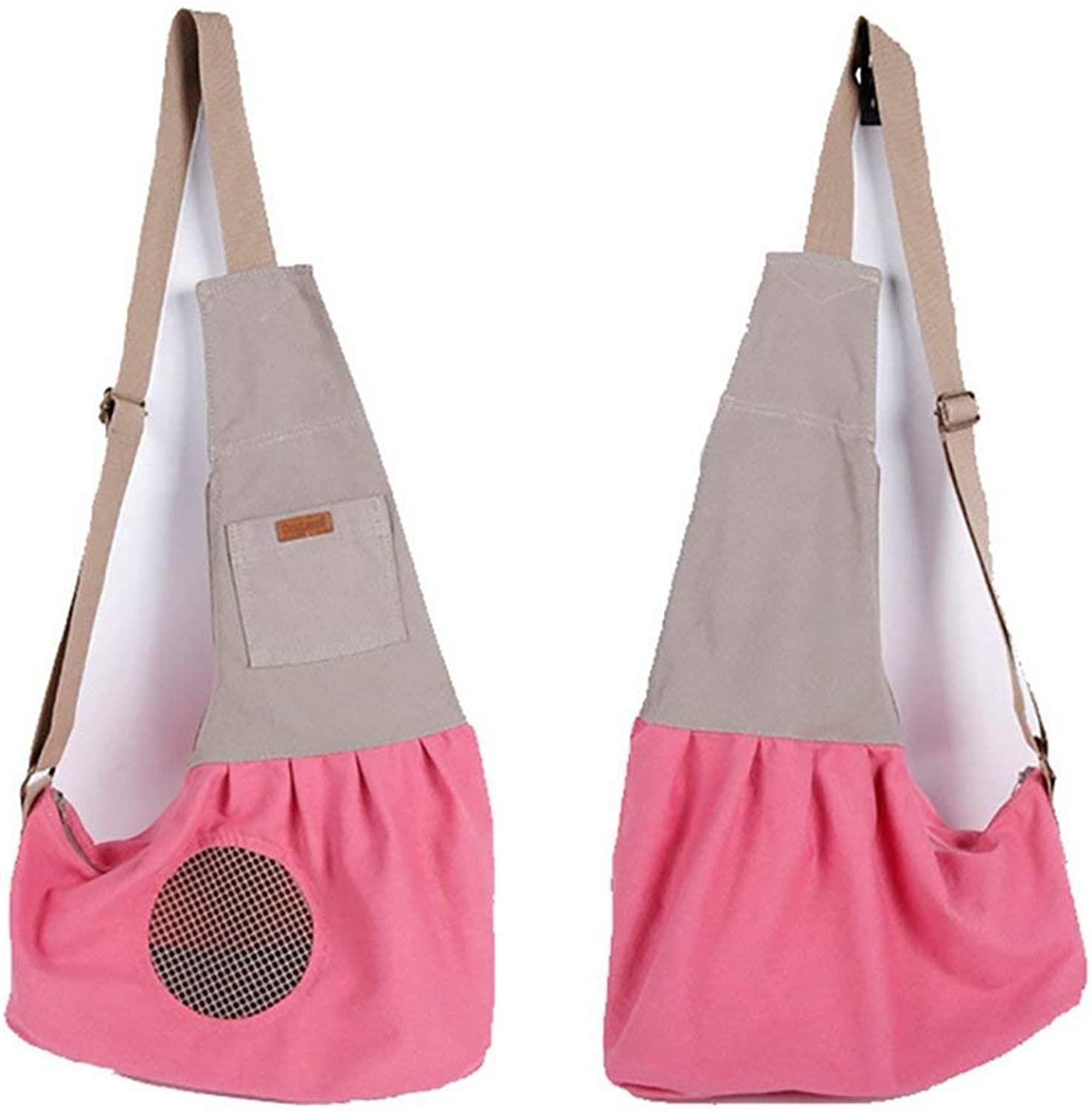 IF.HLMF Pet Cat Travel Carrier Bag, Comfort Portable Foldable for Small Dogs,Cats and Puppies Small Animal,Pink