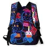 Fünf Nächte bei Freddy's Casual Backpack Fashion Rucksack Five Nights Kinderrucksack FNAF School Daypack Outdoor-Reiserucksack für Männer Unisex