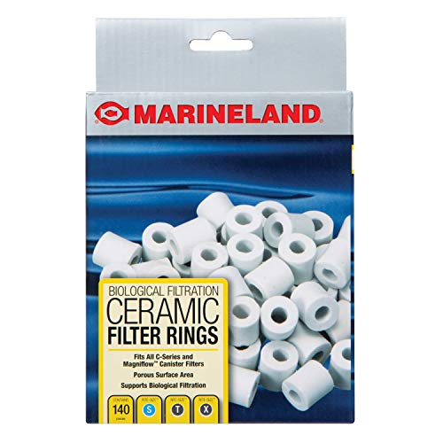 MarineLand Ceramic Filter Rings 140 Count, Supports Biological aquarium Filtration, Fits C-Series And Magniflow, 140 rings (PA11484)