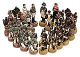 PATAWFFF Ajedrez Juego de ajedrez Figura de resina Ajedrez, tablero de ajedrez de madera, piezas de juego de alojamiento de alta gama, ajedrez de figuras tridimensionales, ajedrez ornamental Regalos d