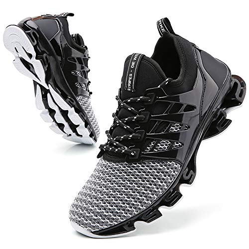 TSIODFO Blade Sneakers for Men Mens Trail Walking Shoes Men Comfortable Sport Sneakers Sport Running Shoes for Mens Mesh Breathable Trail Runners Fashion Sneakers Grey 11