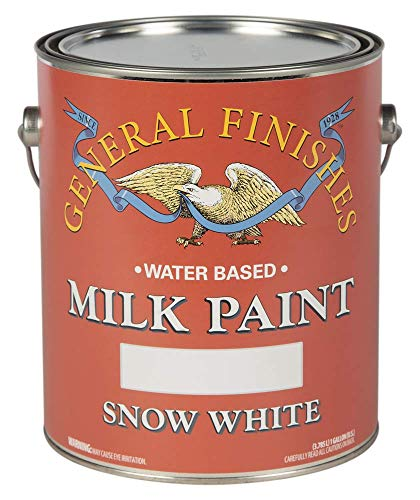 General Finishes Water Based Milk Paint, 1 Gallon, Snow White