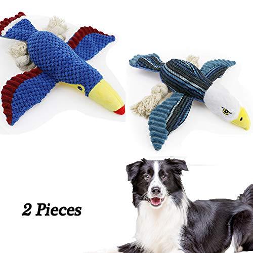 XXDYF Juguete para Perro chirriante, Juguete de Peluche para Perros con chirriador Juego Interactivo Dientes Juguete para Perros pequeños y medianos - Diferentes Formas de Aves