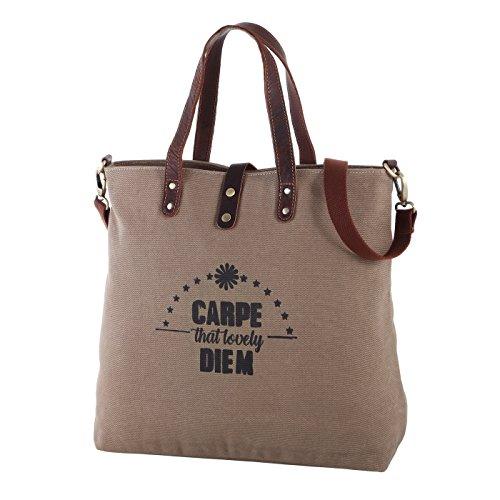 Rada Nature Canvas Shopper große Tasche Carlos 22 Liter (natur/carpe diem)