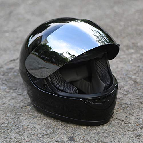 TCT-MT DOT Certified Full Face Helmet & Visor Sun Shield Motorbike Street Sport Helmet Motorcycle (Adult, XL)