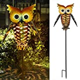 Philonext Solar Lantern Lights, Outdoor Hanging Lantern,Lights Hanging Outdoor, Adorable and Full of Character Owl Solar Light, Decorative Garden Lights for Walkway,Pathway,Yard,Lawn