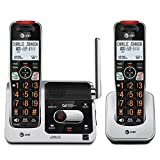 AT&T BL102-2 DECT 6.0 2-Handset Cordless Phone for Home with Answering Machine, Call Blocking, Caller ID Announcer, Audio Assist, Intercom, and Unsurpassed Range (Renewed)
