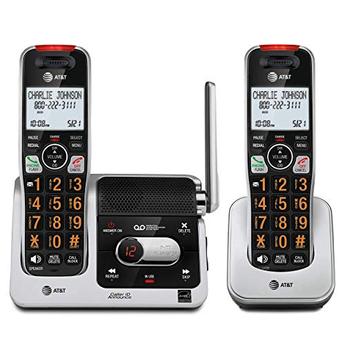 AT&T BL102-2 DECT 6.0 2-Handset Cordless Phone for Home with Answering...