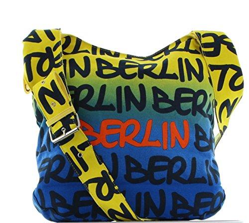 Robin Ruth Shopper Handtasche Beutel Berlin BG739 - Blau Gelb