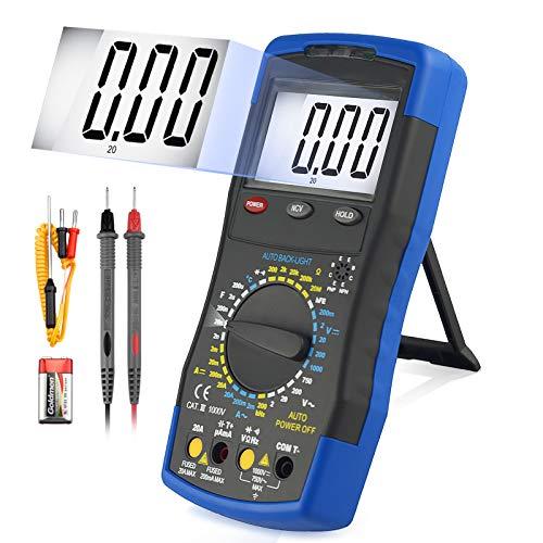 ANNMETER AN-770B Digital Multimeter - AC/DC Voltmeter, AC/DC Current Tester, NVC Ohm Capacitance Temperature Reader, hFE Diode Test Multimeter for Electric System