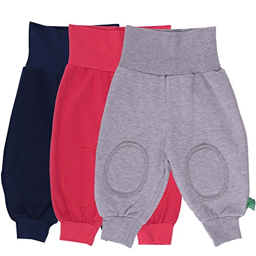 Fred'S World By Green Cotton Alfa Pants Mix 3 Pack Pantalon, Bleu (Navy 019392001), 80 cm Mixte bébé