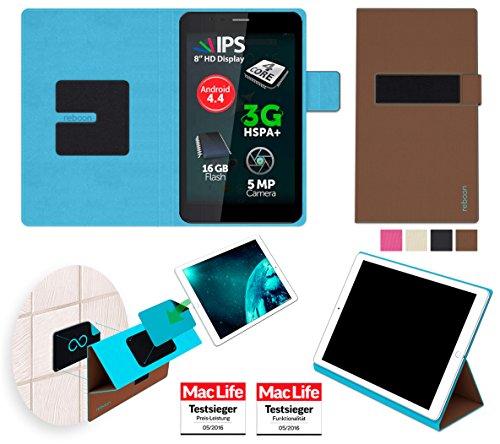 Hülle für Allview Viva H8 Plus Tasche Cover Hülle Bumper | in Braun | Testsieger