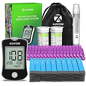 buy  AUVON DS-W Blood Sugar Kit (No Coding Required), ... Blood Glucose Monitors