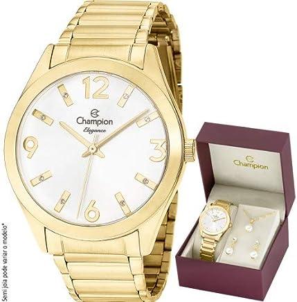 8175a4a8b8 Kit Relógio Champion Feminino Elegance CN25396W