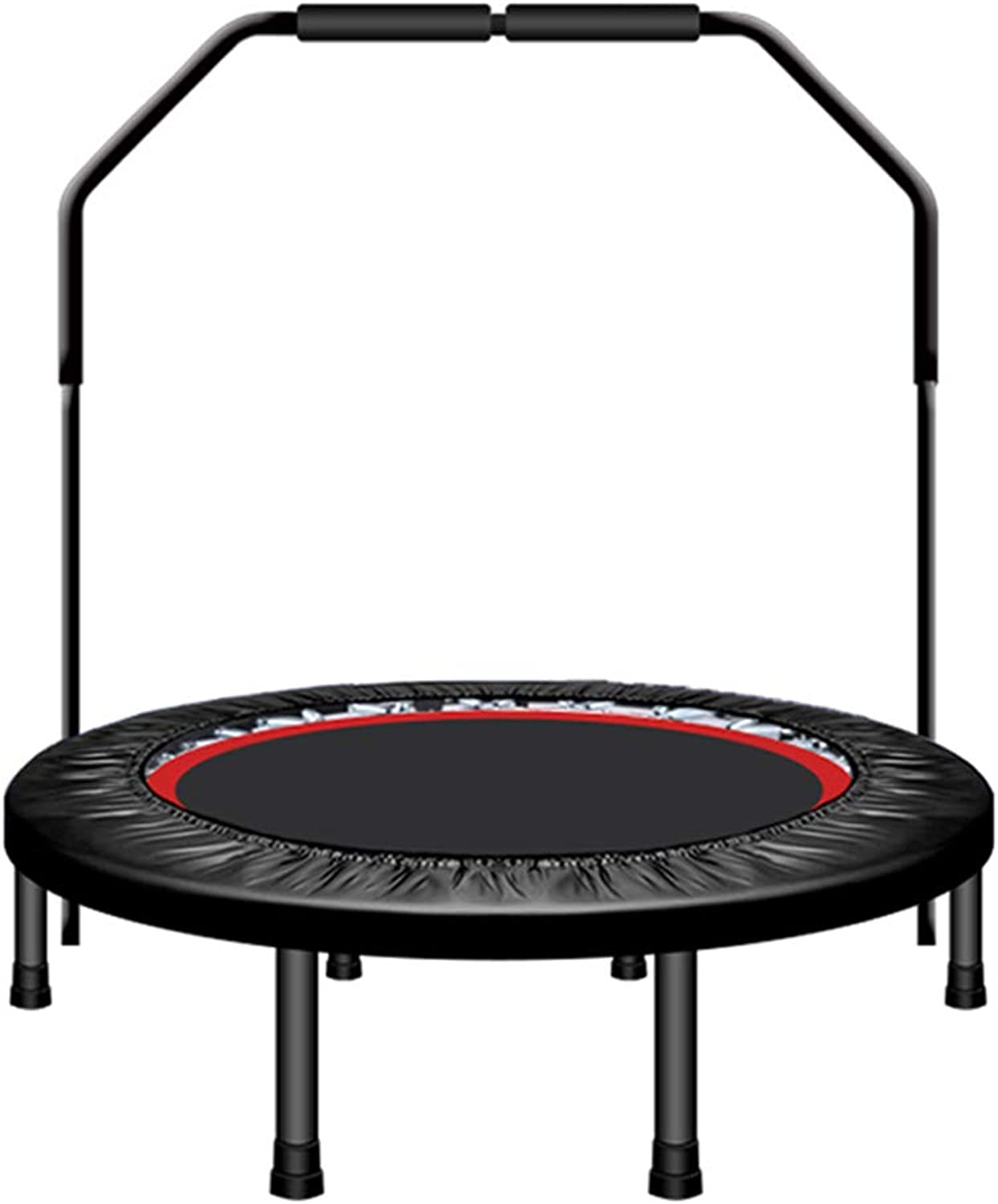 Trampolines Trampoline Household Adult Trampoline Indoor Sports Equipment Collapsible Trampoline Loading Weight 200kg (color   with armrests, Size   122cm(48inches))