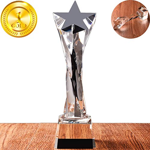 Trofee Minimalistische En Transparante Creatieve Kunst Crystal Trophy School Singer Contest Star Trophy Home Open Haard Tafeldecoraties Geschenken (Color : Transparent, Size : 28 * 8cm)