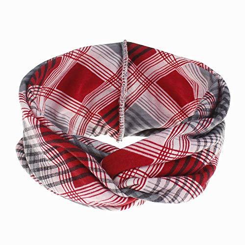 Teinture nouvelle bande de cheveux de yoga de sport dames large bandeau de bande de cheveux absorbant la sueur en coton élastique-Treillis rouge