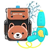 Pool Toys,Water Guns Toys for Girls Boys,Outdoor Games,Backpack Water Toys for Kids Toddlers, Water Gun Squirt for Beach Sand Swimming Yard Toys for3-8 Year Old Boys Girls(little brown bear)