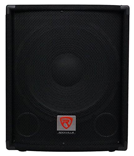 Rockville SBG1154 800 Watt Passive 4-Ohm Pro DJ Subwoofer, MDF/Pole Mount, 15 inch