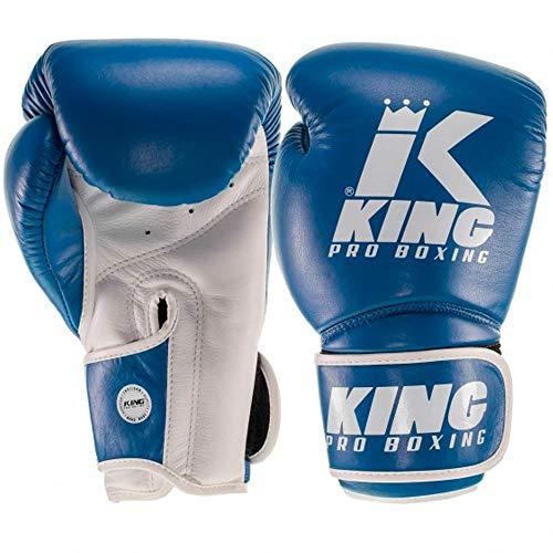 King Pro Boxing Boxhandschuhe Star 8, blau-Weiss Größe 10 Oz