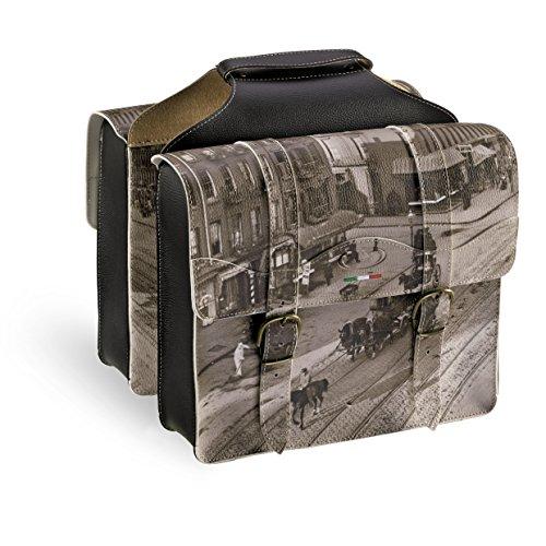 Fietstas 2-voudig bagagedragertas dubbelpaktas Bauletto 0024 MONTEGRAPPA SALE&PEPE collectie 2015 SKAI leer - Made in Italy