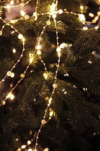 Arnusa LED Lichterbündel mit Perlen bestückt 125 LED'S Lichterkette Weihnachtsbeleuchtung Christbaum Schmuck