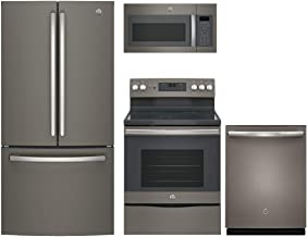 GE 4-Piece Kitchen Package with GNE25JMKES 33