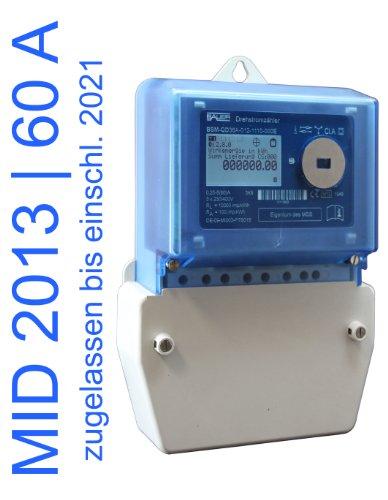 elektronischer Drehstromzähler Smart Meter 60 Amp. MID zugelassen (max. 41,4 kW)
