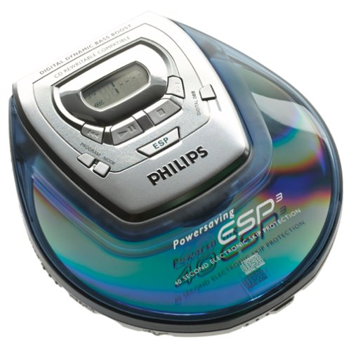 Philips AZ9101 Blue Personal CD Player