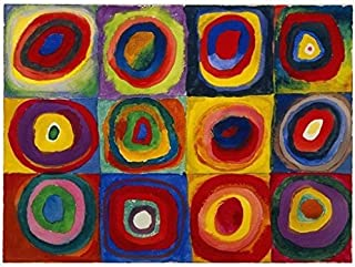 SQUARES wit CONCENTRIC CIRCLES POSTER Wassily Kandinsky RARE HOT NEW 24x32