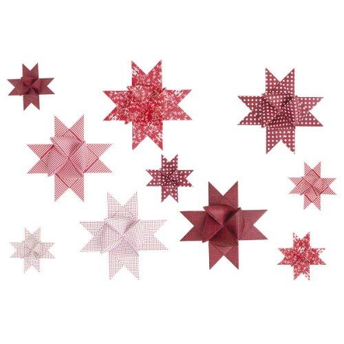 Faltstreifen für Fröbelsterne Rot/Weiß-Mix