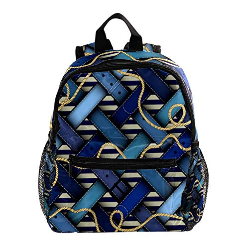 Cool Backpack Kids Sturdy Schoolbags Back to School Backpack for Boys Girls,Plaid Nautical Belts