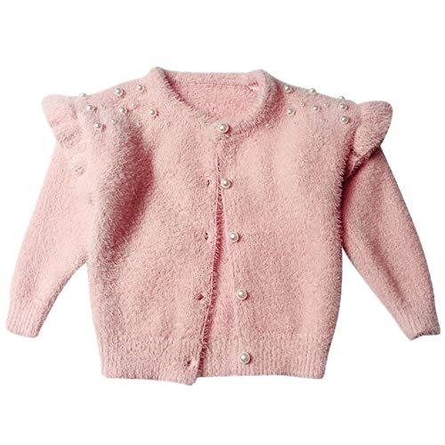 NOBRAND Ropa Suéteres Perlas de Punto Chaqueta de Punto Chaqueta para niñas Abrigos y Chaquetas para niños Ropa para niños