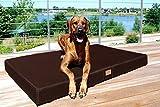 tierlando® Orthopädische Hundematratze HUGO ORTHO PLUS | L 100 x 80 cm | Anti-Haar Polyester | Braun - 2