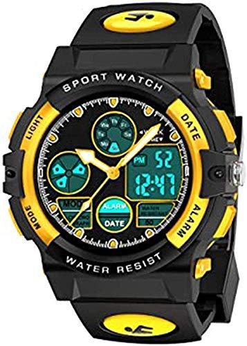 Reloj deportivo digital para niños, reloj digital electrónico, impermeable, analógico, deportivo, con luz LED, cronógrafo, cronógrafo, 4